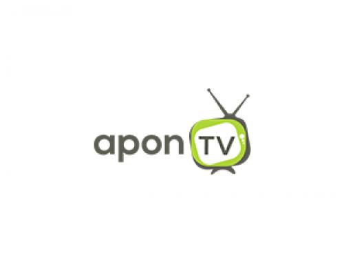 Apon TV Logo Design